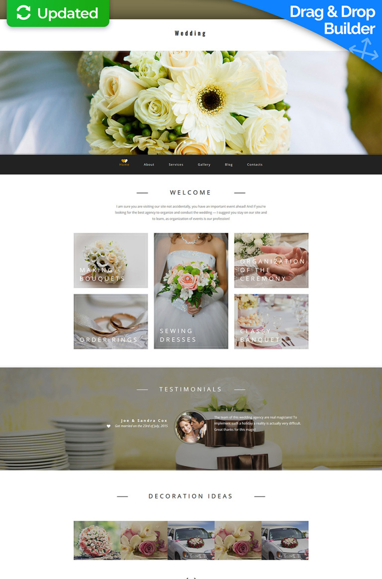 Wedding Planner Responsive Moto CMS 3 Template New Screenshots BIG