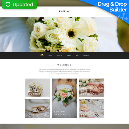 Wedding  - MotoCMS 3 Template based on Bootstrap