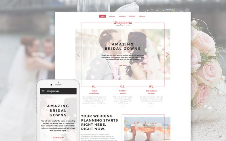 Wedplancia Website Template New Screenshots BIG