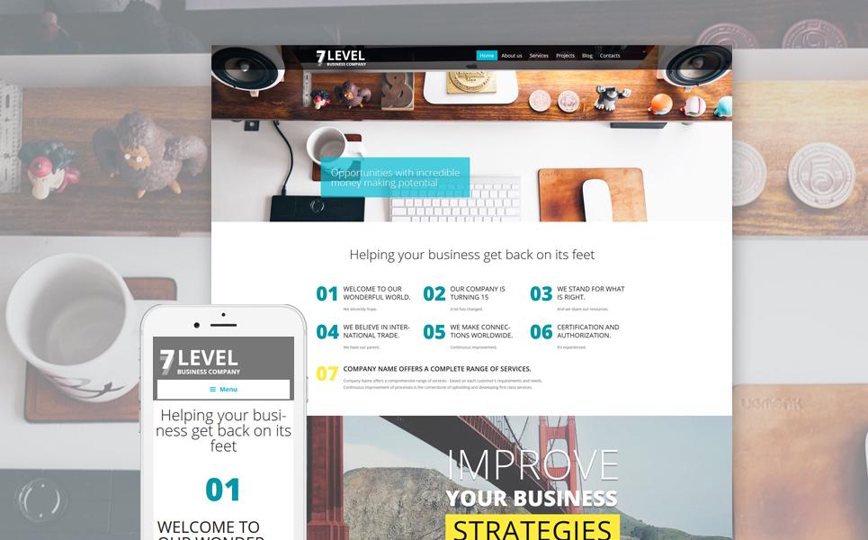 Шаблон 7 Level сайта на тему бизнес #58461