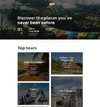 Travel Website  Template 58502