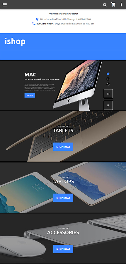 Magento Theme/Template 58509 Main Page Screenshot