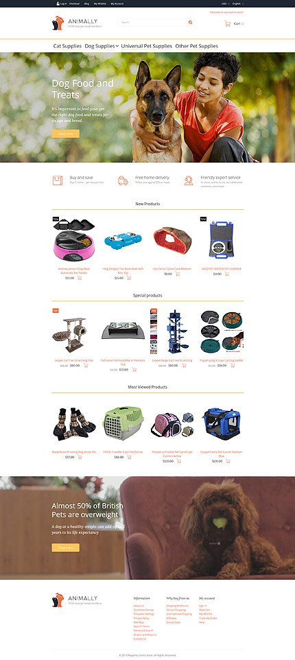 Magento Theme/Template 58510 Main Page Screenshot