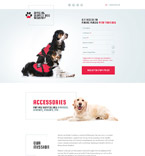 Animals & Pets Landing Page  Template 58514
