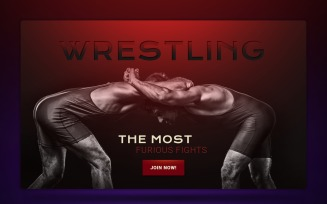 Wrestling Responsive Landing Page Template