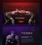 Sport Landing Page  Template 58521
