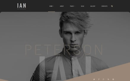 Ian Peterson Joomla Template