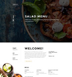 Cafe & Restaurant Website  Template 58527