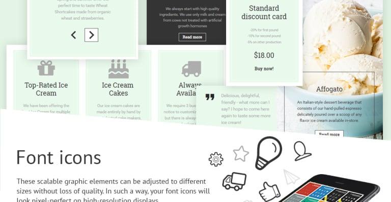 Ice Cream Website Template