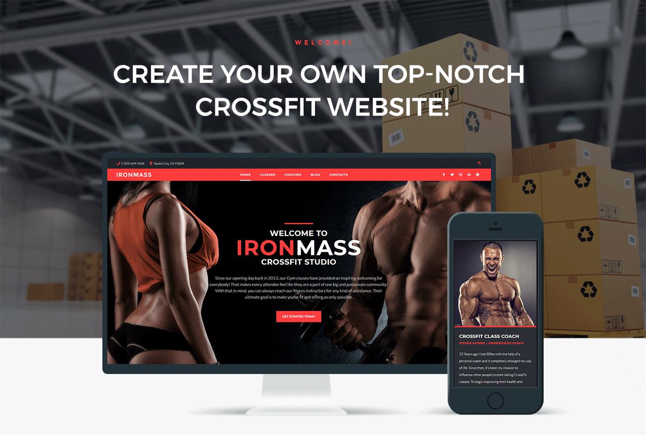 Ironmass Gym Fitness Bodybuilding Elementor Wordpress Theme