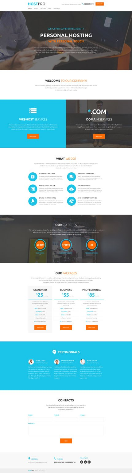 WordPress Theme/Template 58537 Main Page Screenshot