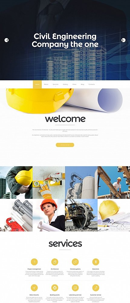 ADOBE Photoshop Template 58541 Home Page Screenshot