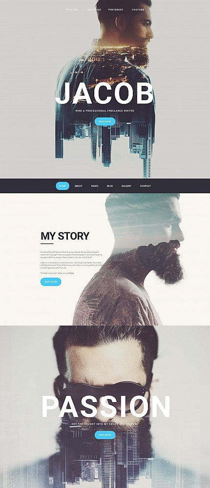 ADOBE Photoshop Template 58543 Home Page Screenshot