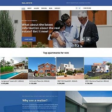 Купить Шаблон сайта агентства недвижимости для Moto CMS 3 . Купить шаблон #58546 и создать сайт.