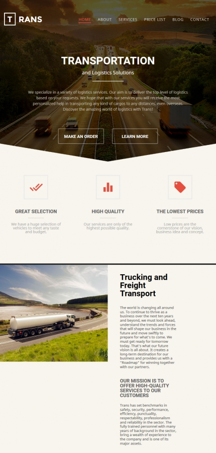 ADOBE Photoshop Template 58552 Home Page Screenshot