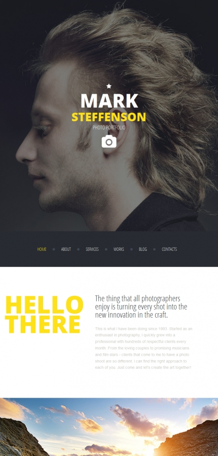 ADOBE Photoshop Template 58553 Home Page Screenshot