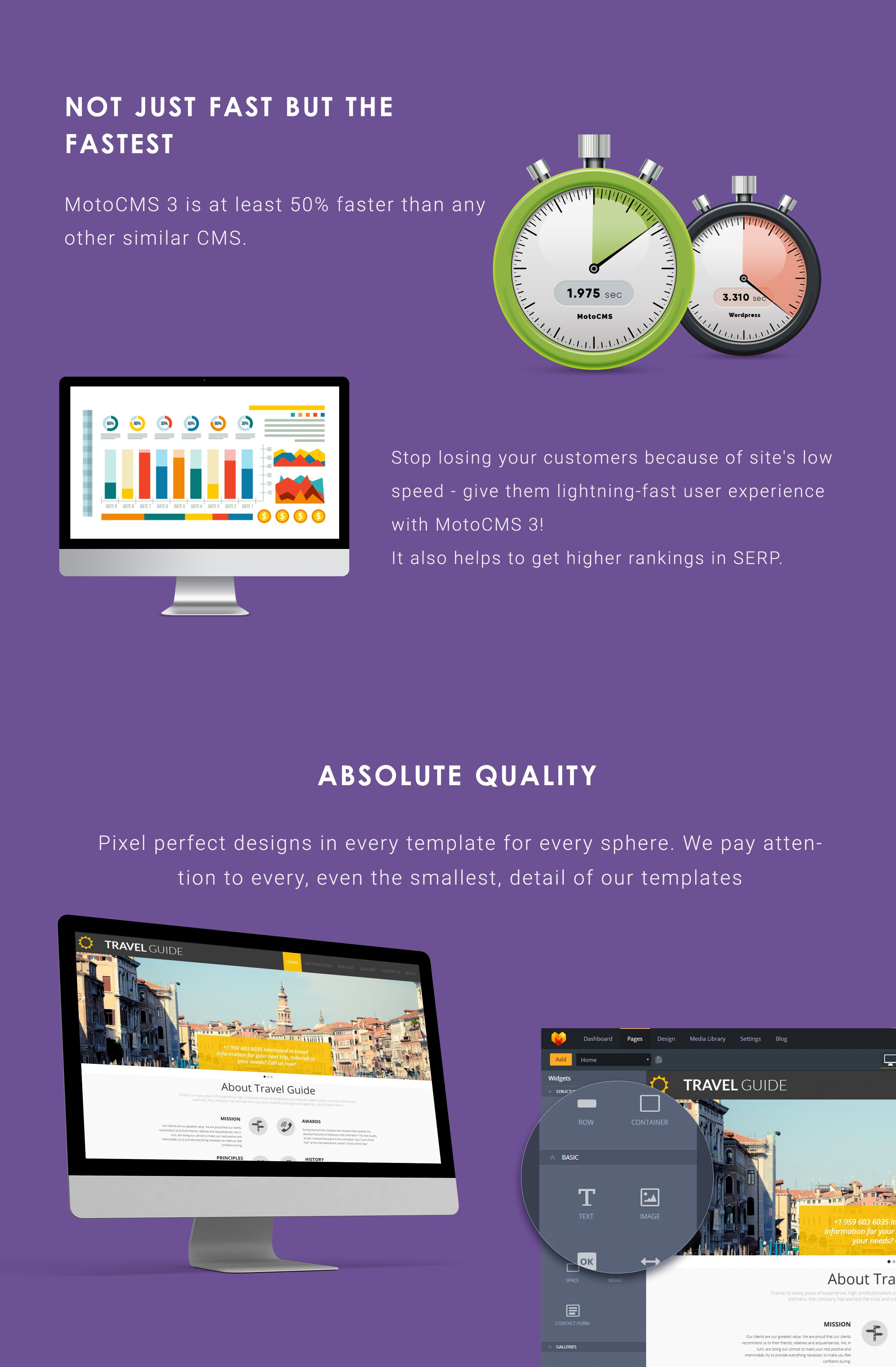 Travel Guide Moto CMS 3 Template