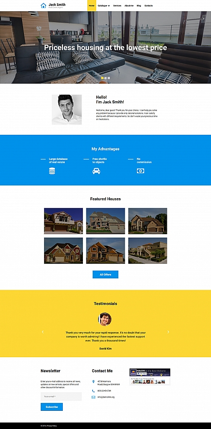 ADOBE Photoshop Template 58556 Home Page Screenshot
