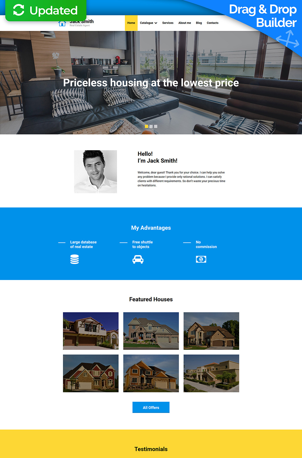 Responsive real property website