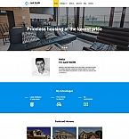 Real Estate Moto CMS 3  Template 58556