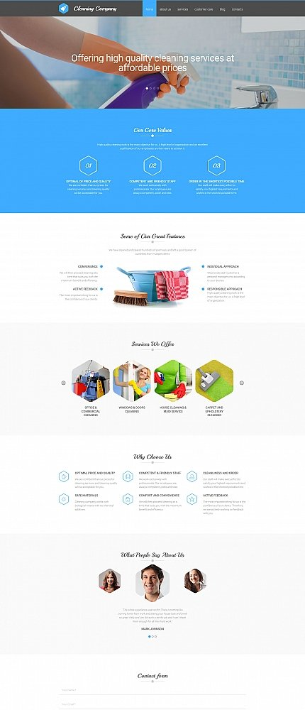 ADOBE Photoshop Template 58557 Home Page Screenshot