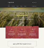 Agriculture Website  Template 58560