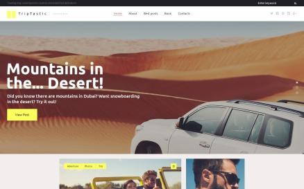 TripTastic - Travel Blog WordPress Theme