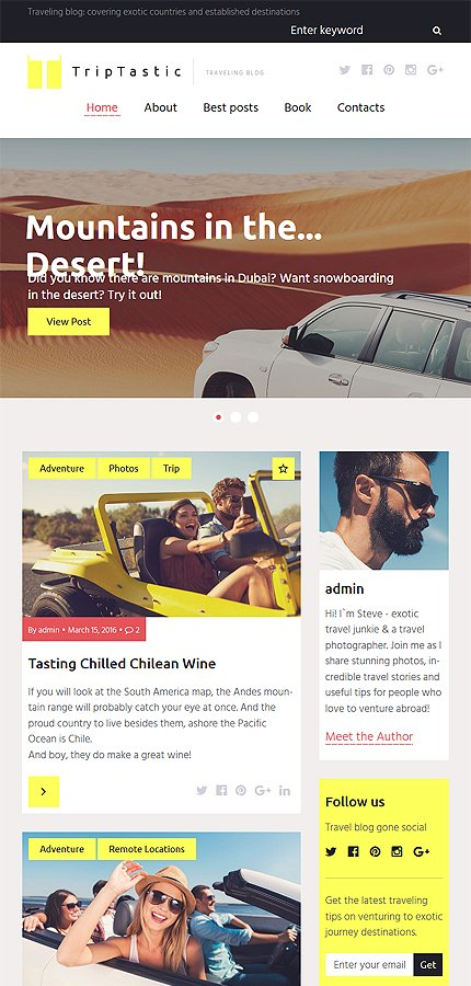 WordPress Theme/Template 58562 Main Page Screenshot