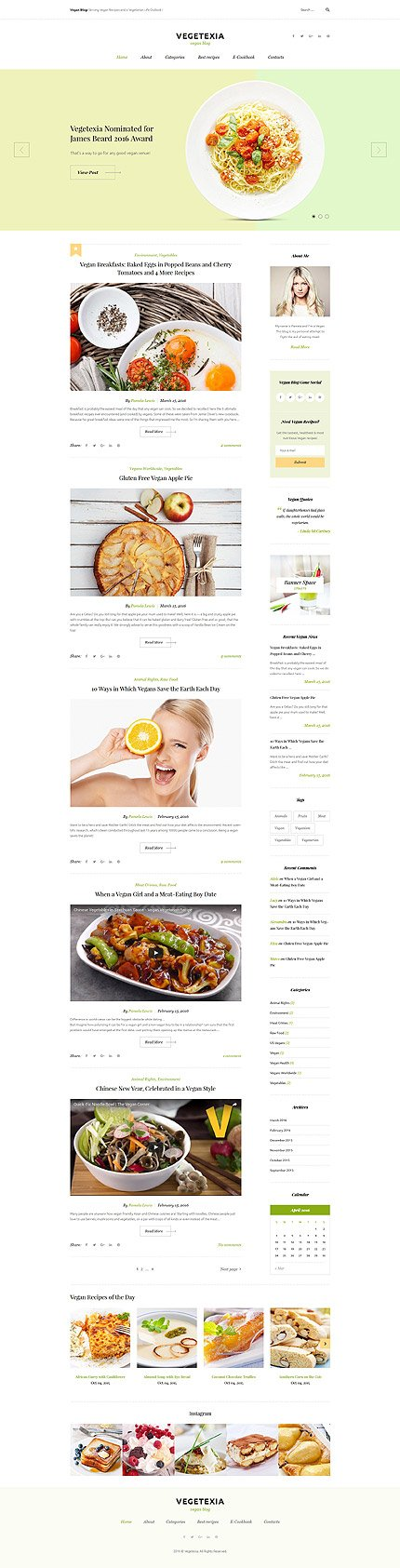 WordPress Theme/Template 58572 Main Page Screenshot