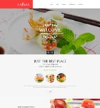 Cafe & Restaurant Website  Template 58582