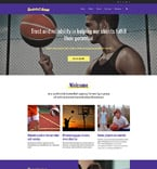 Sport Website  Template 58588