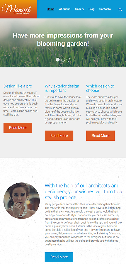 WordPress Theme/Template 58592 Main Page Screenshot