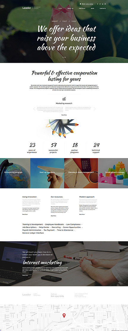 WordPress Theme/Template 58594 Main Page Screenshot