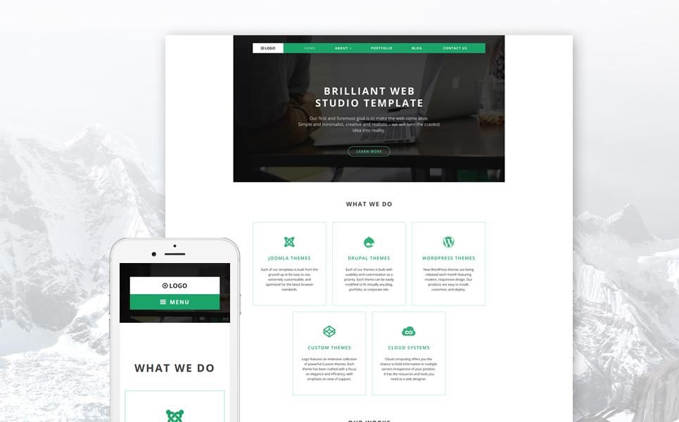 Адаптивный шаблон сайта на тему веб-дизайн #58593