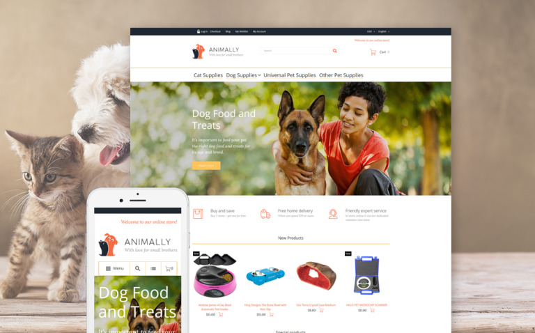 Animally Magento Theme New Screenshots BIG
