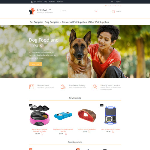 Animally - Magento Template based on Bootstrap