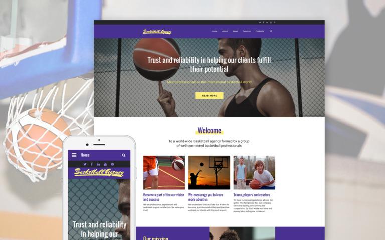 Basketball Website Template New Screenshots BIG