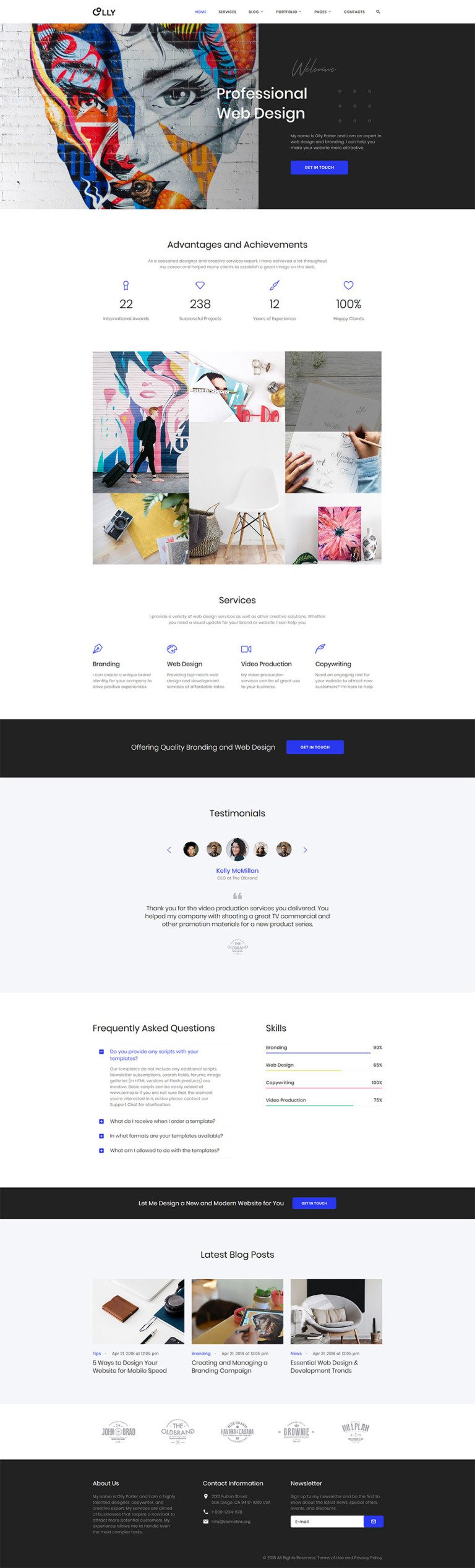 Candini Website Template New Screenshots BIG