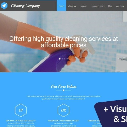 Cleaning Company - MotoCMS 3 Template based on Bootstrap