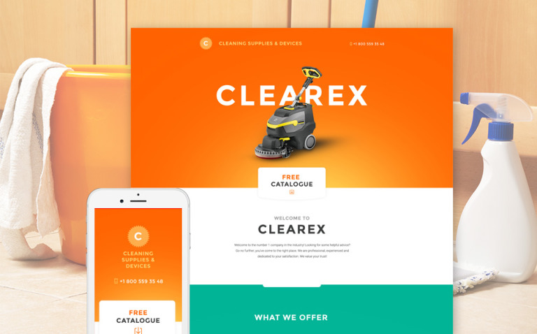 Clearex Landing Page Template New Screenshots BIG