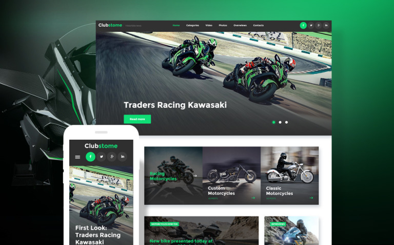 Clubstome - Sport Racing WordPress Theme New Screenshots BIG