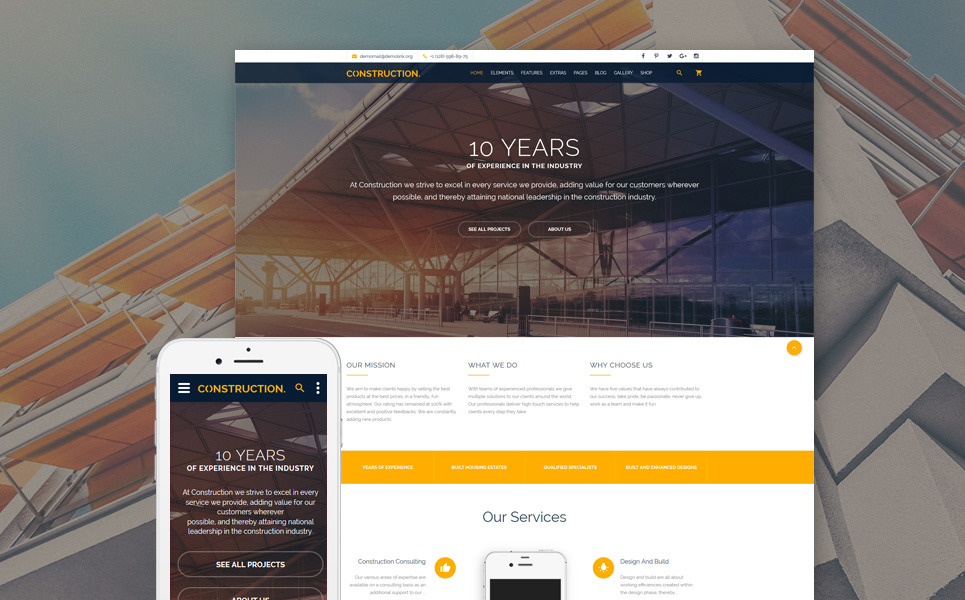 Construction Multipurpose Website Template New Screenshots BIG