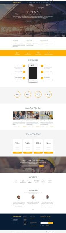 70+ Best Construction Company Website Templates