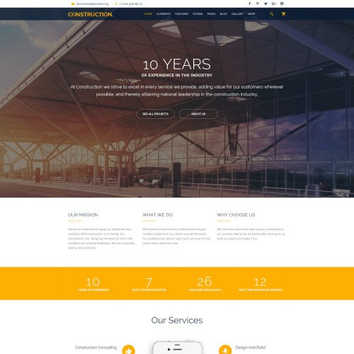 Construction - Multipurpose Website Template based on Bootstrap
