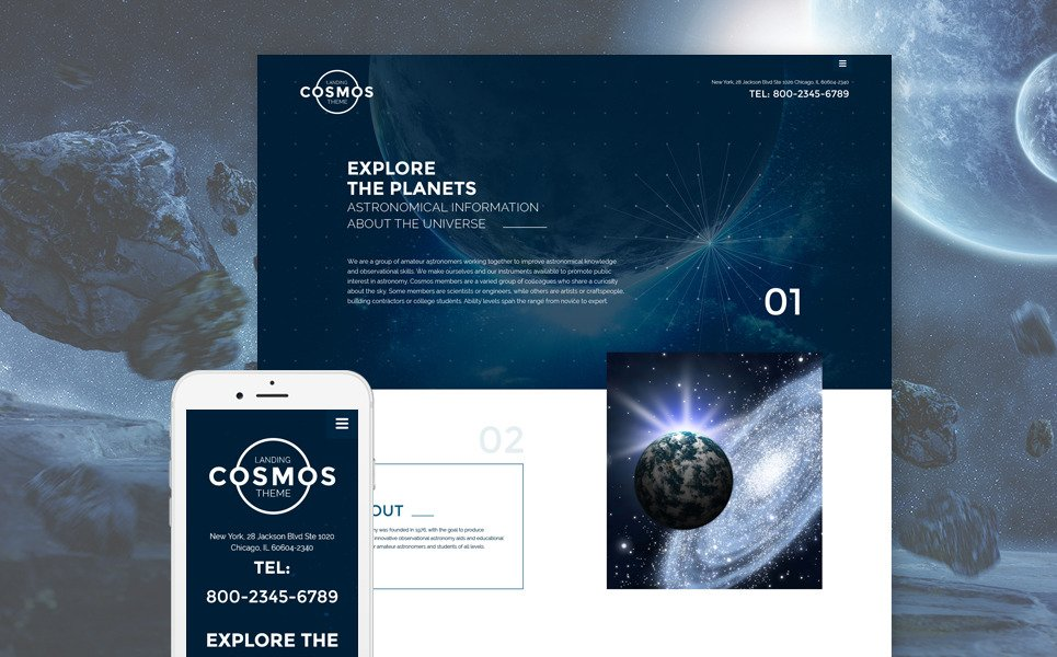 Cosmos Landing Theme Website Template New Screenshots BIG