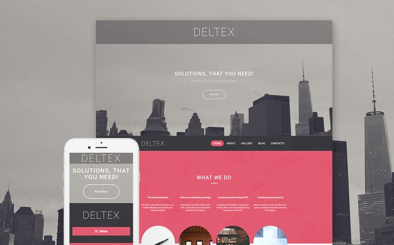 Deltex WordPress Theme New Screenshots BIG