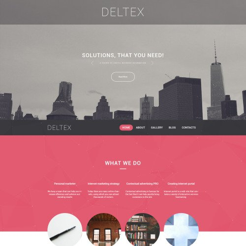 Deltex - WordPress Template based on Bootstrap