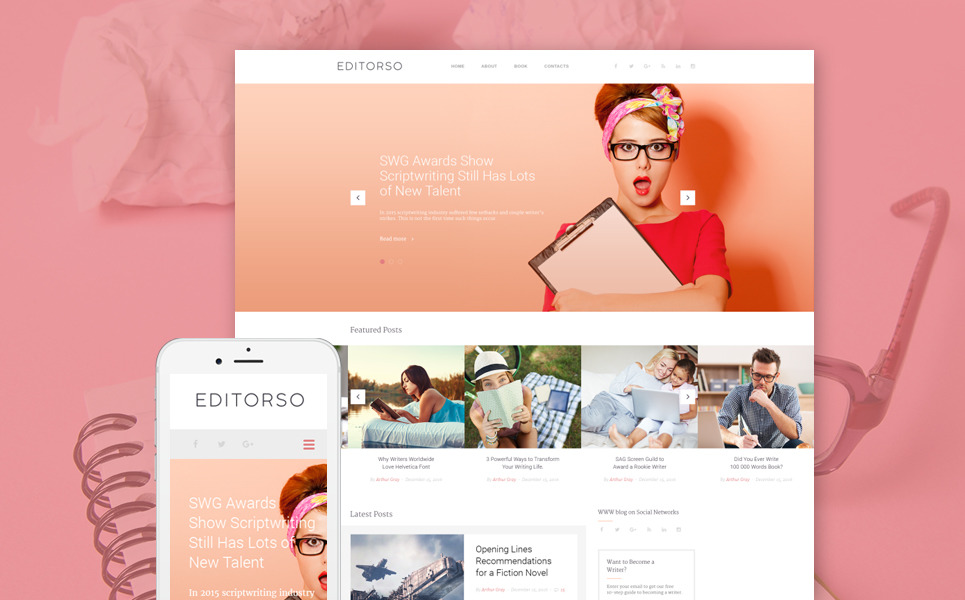 Editorso - Journalist Blog WordPress Theme New Screenshots BIG