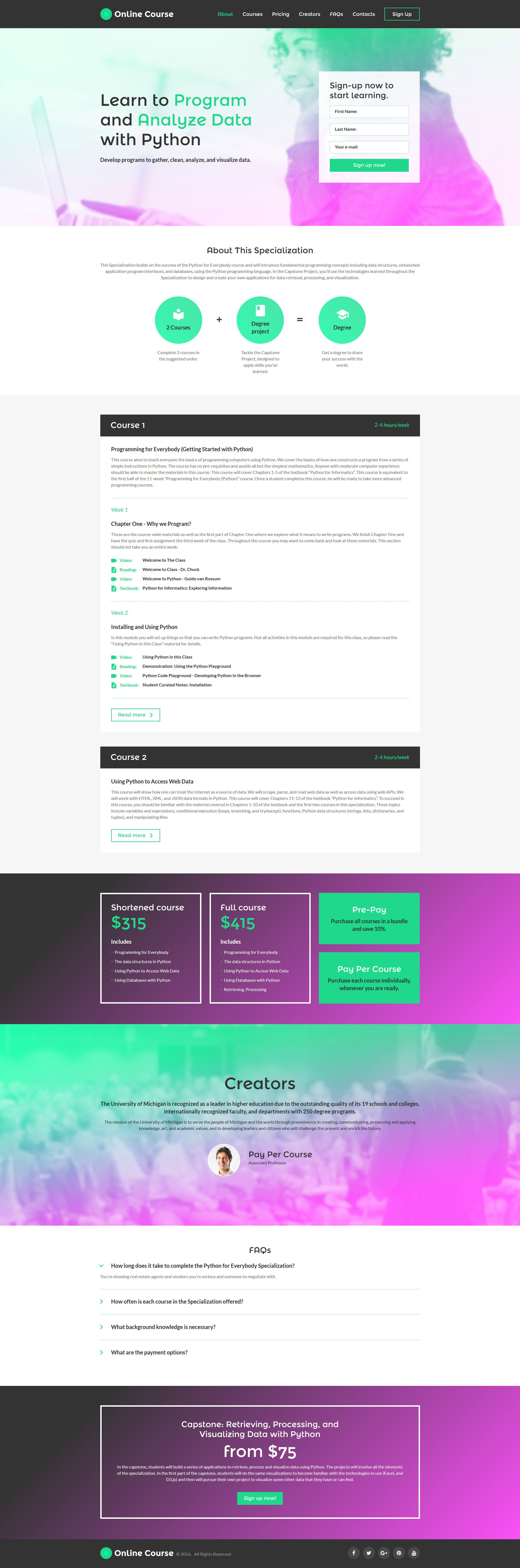 Education Responsive Landing Page Template #58518