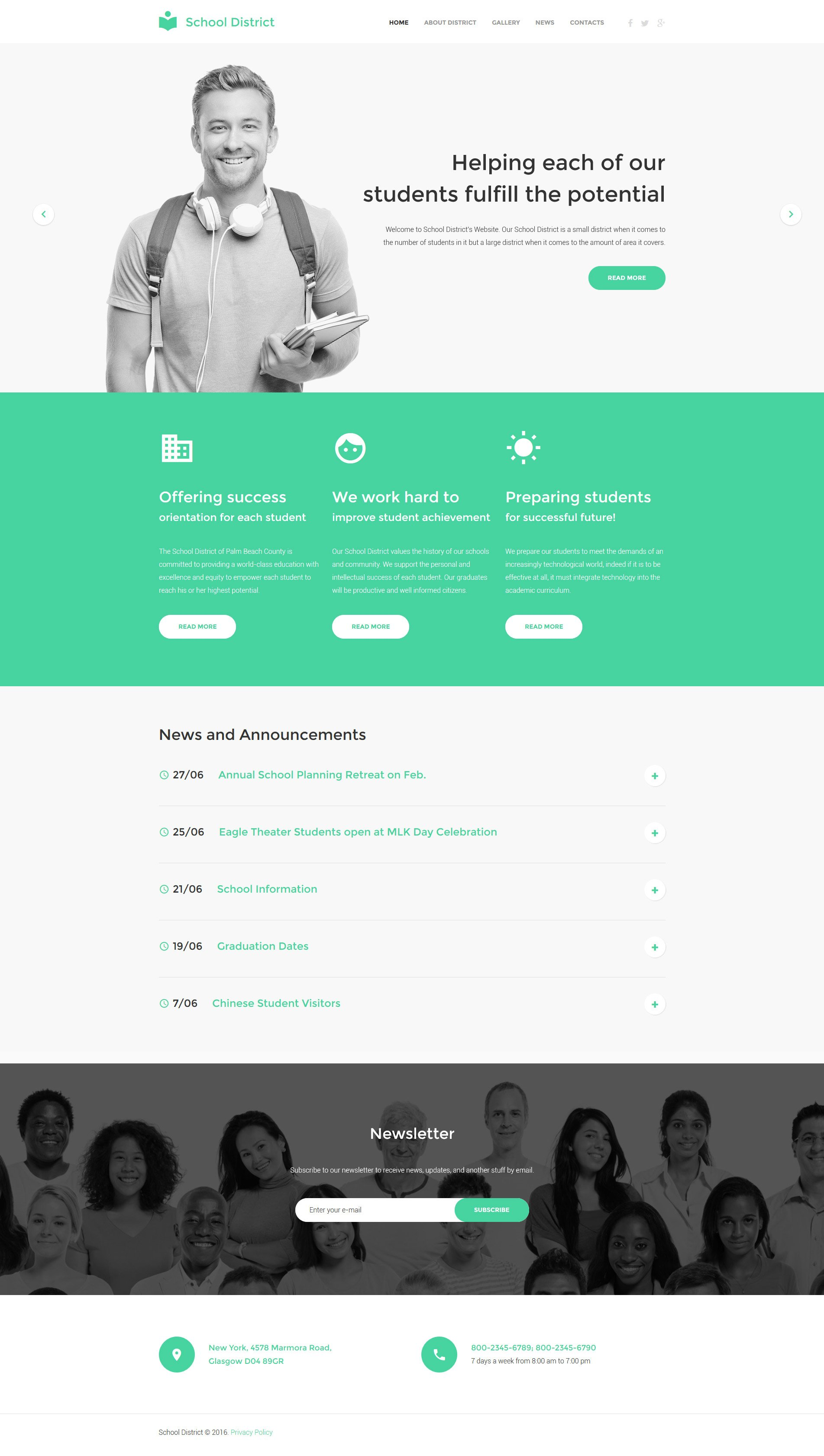 Education Responsive Website Template - screenshot